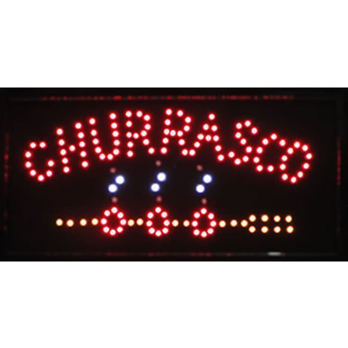 Letreiro luminoso de Led 110v Churrasco 1607