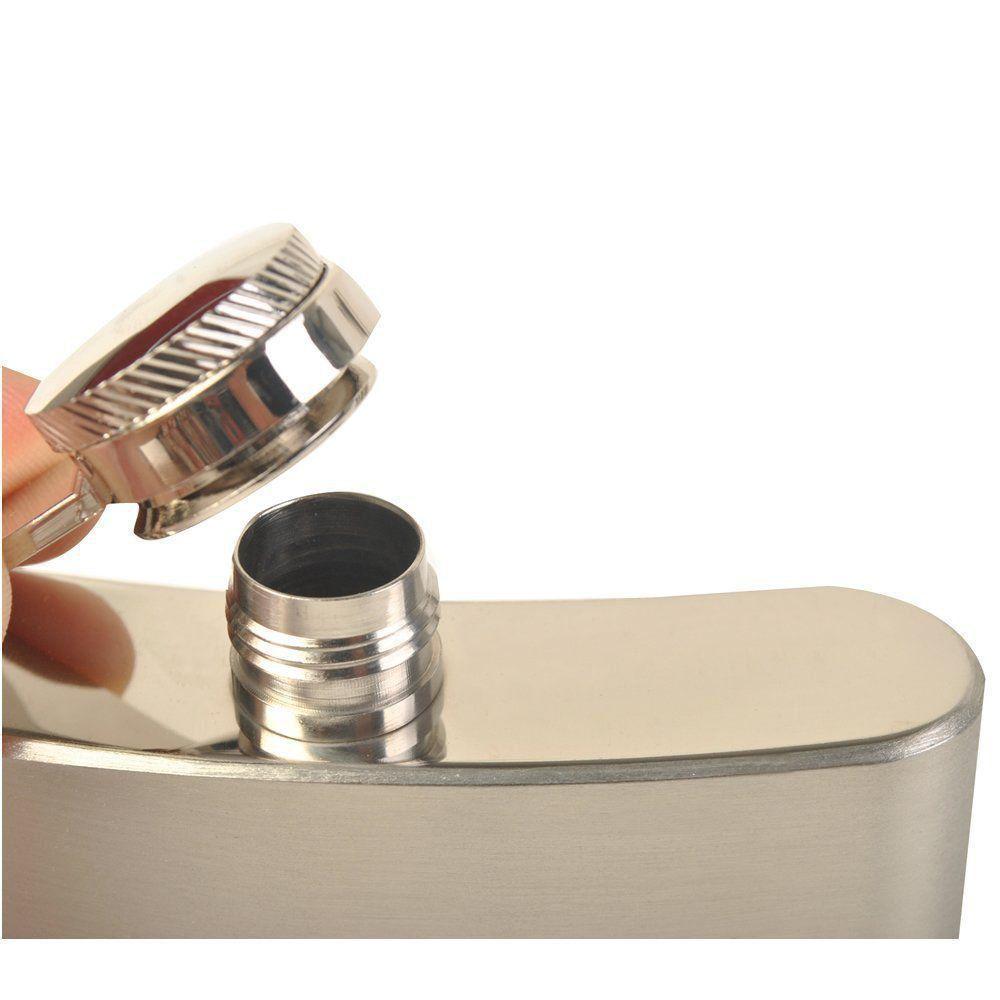 Cantil porta bebidas whisky aço inox 6 OZ 177 ML CBRN01453