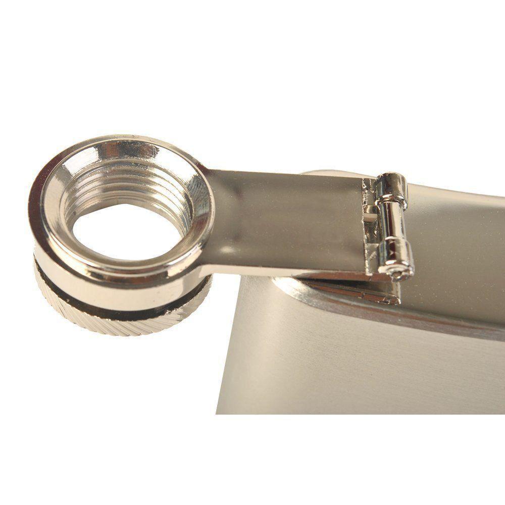 Porta whisky de aço cantil 8 oz 236ml CBRN01446