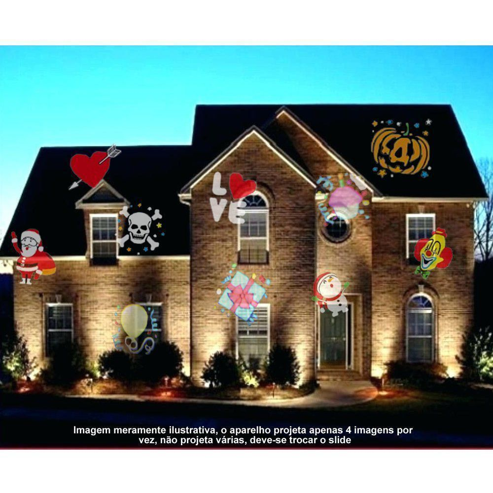 Projetor LED Natal Halloween Multi cores 48 imagens Jardim CBRN07684