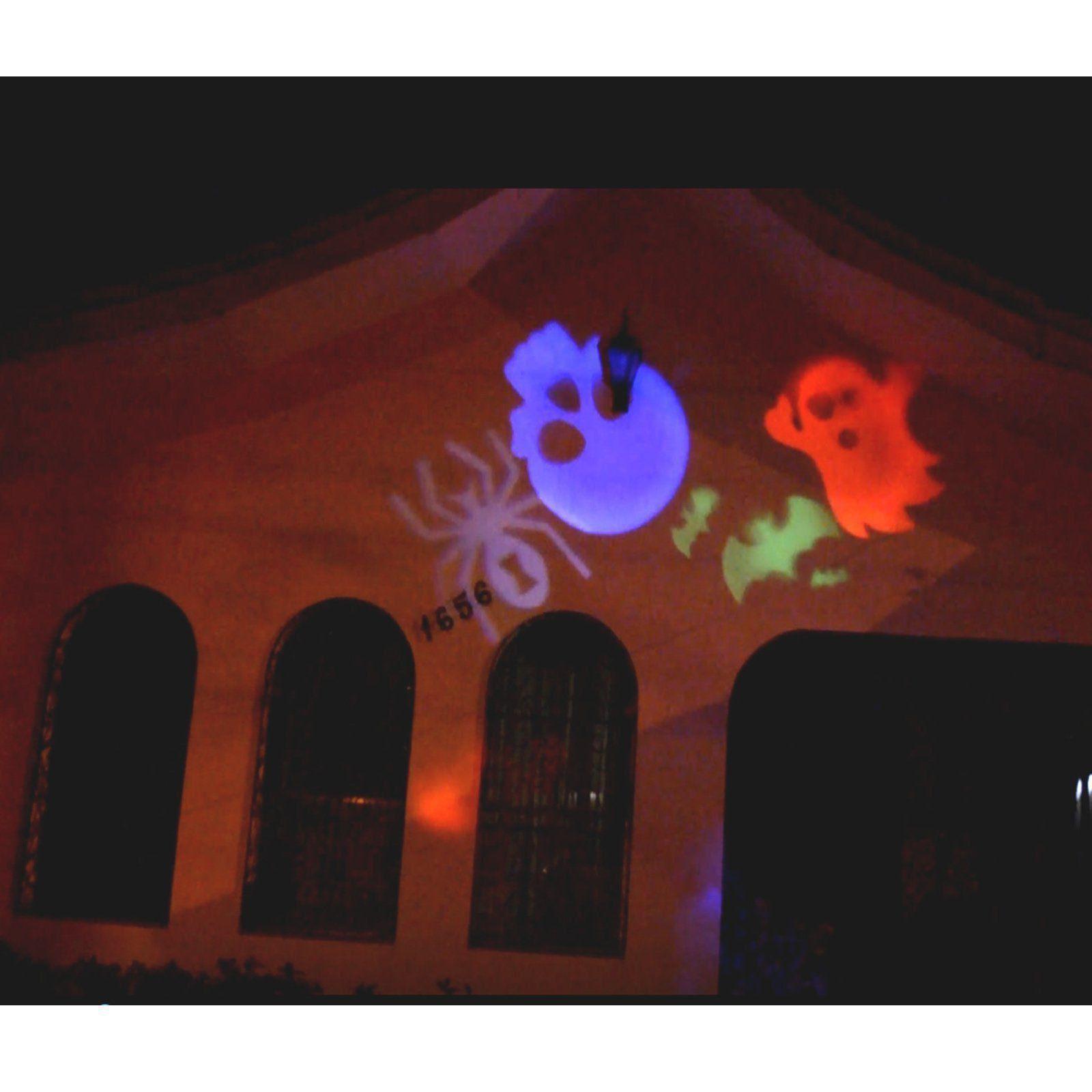 Projetor LED Natal Halloween Para Jardim 12 Slides CBRN08643