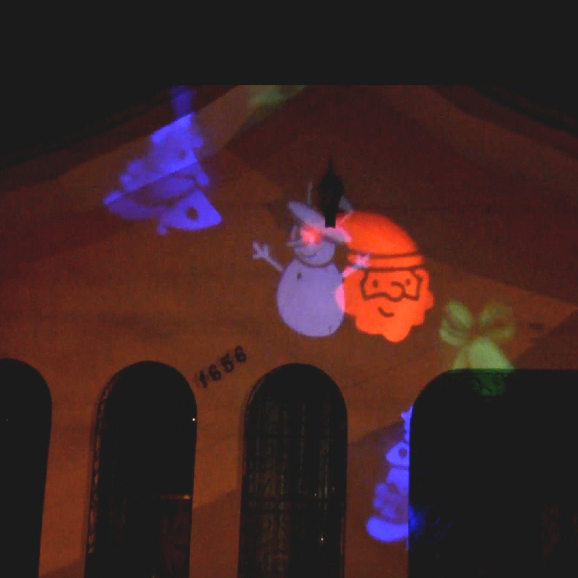 Projetor LED Natal Halloween Para Jardim 12 Slides CBRN06793