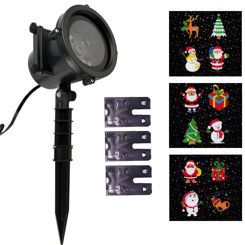 Projetor LED Natal Multi Cores 3 Slides 12 Imagens CBRN15412