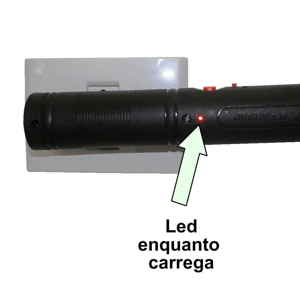 Raquete Mata Mosquito, Mosca e Inseto Elétrica Recarregável Bi-volt Vermelho CBRN0753