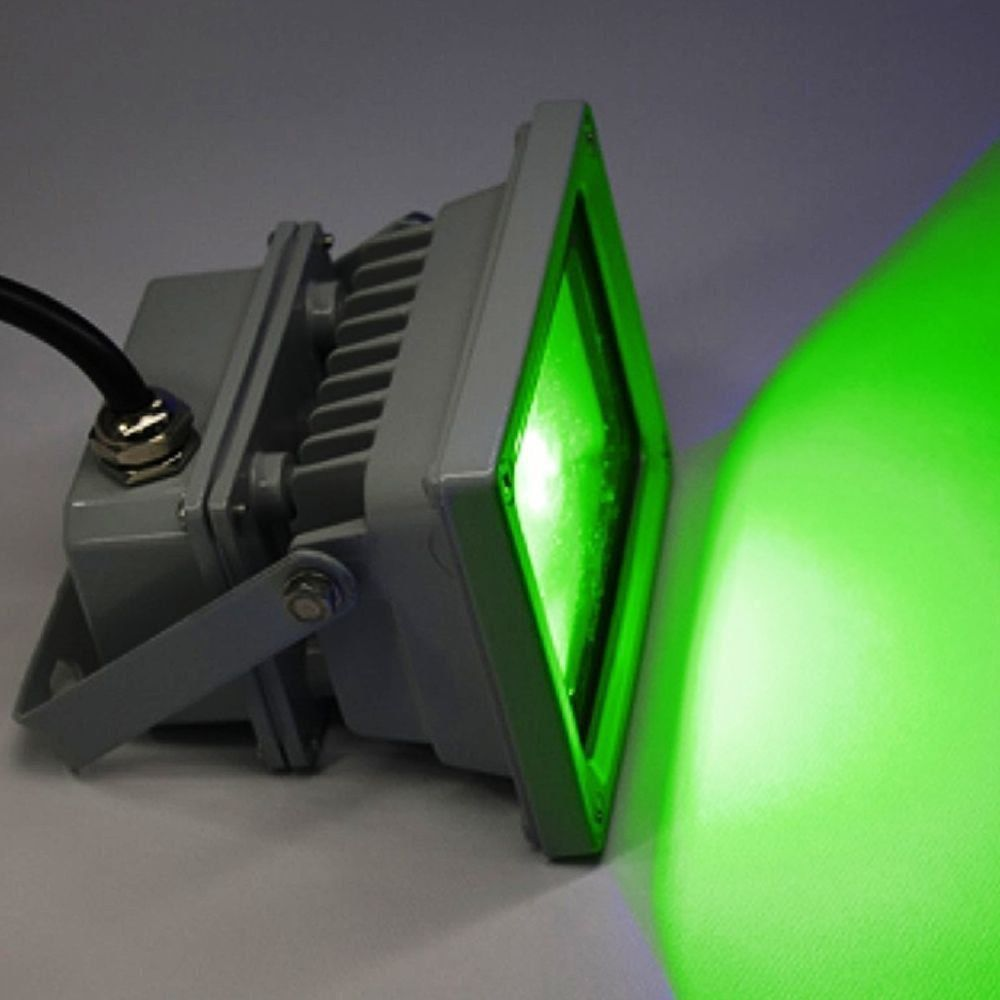 Refletor Holofote Led 30w Bivolt 180° Verde Prova Dágua 1738