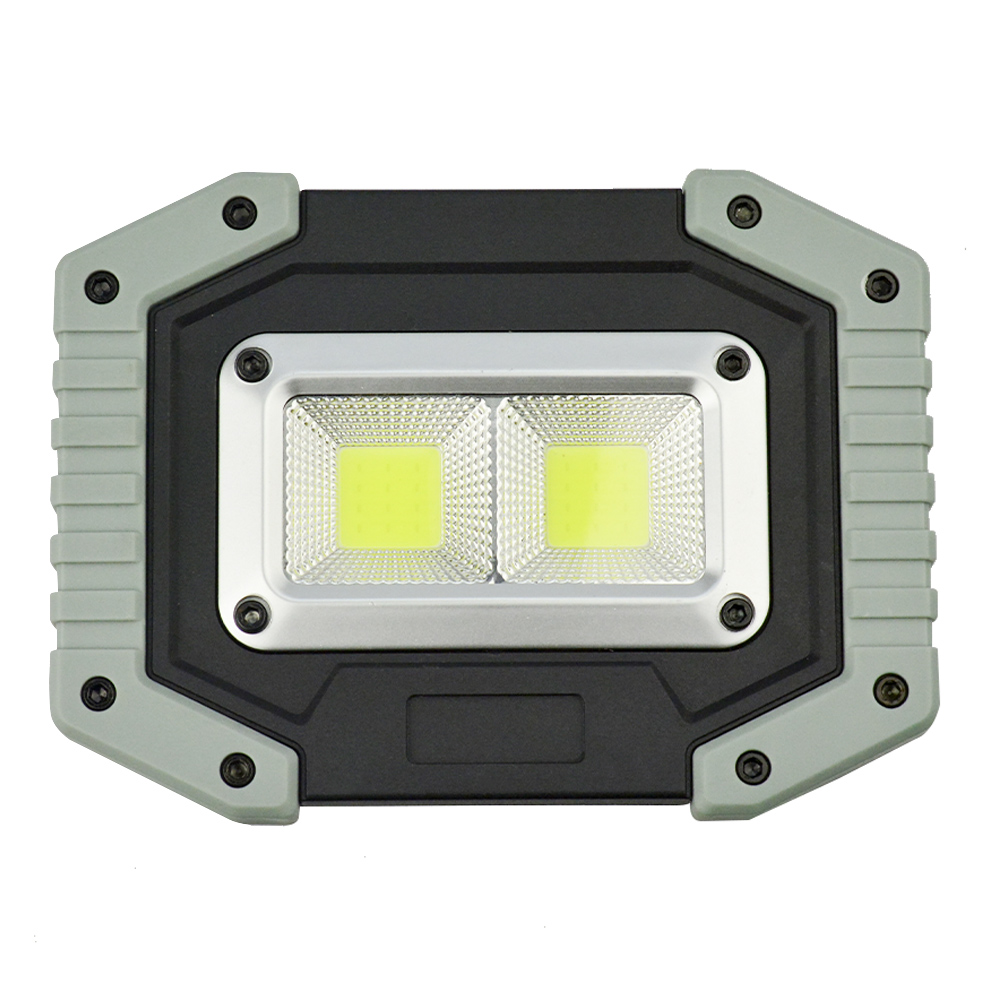 Refletor LED 30W Portátil Recarregável LED COB IP65 Cinza + Chaveiro CBRN18031
