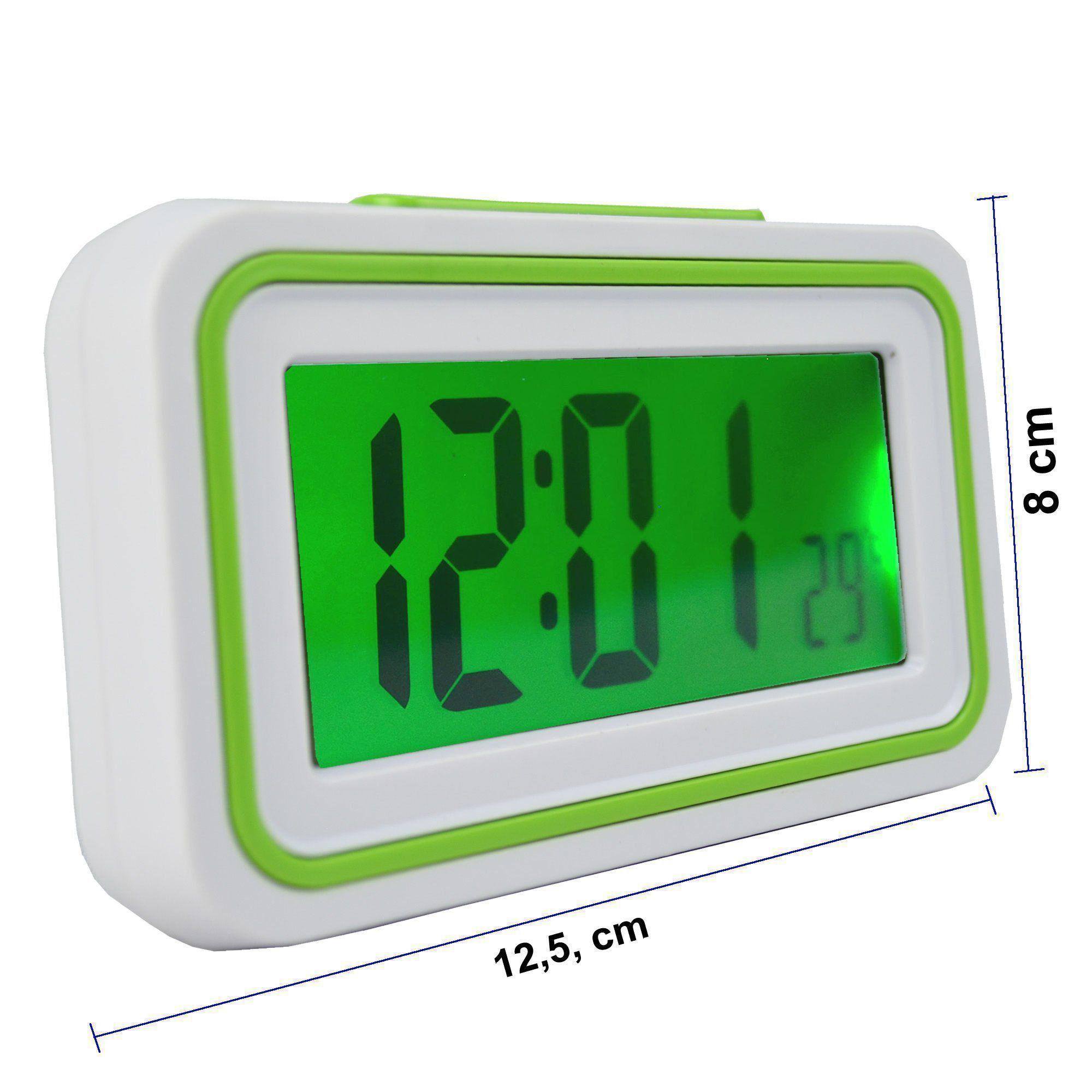 Relógio Digital LCD Fala Hora Em Português Verde CBRN09091