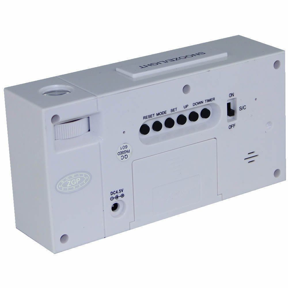 Relogio digital projetor de horas termometro  branco CBRN02818