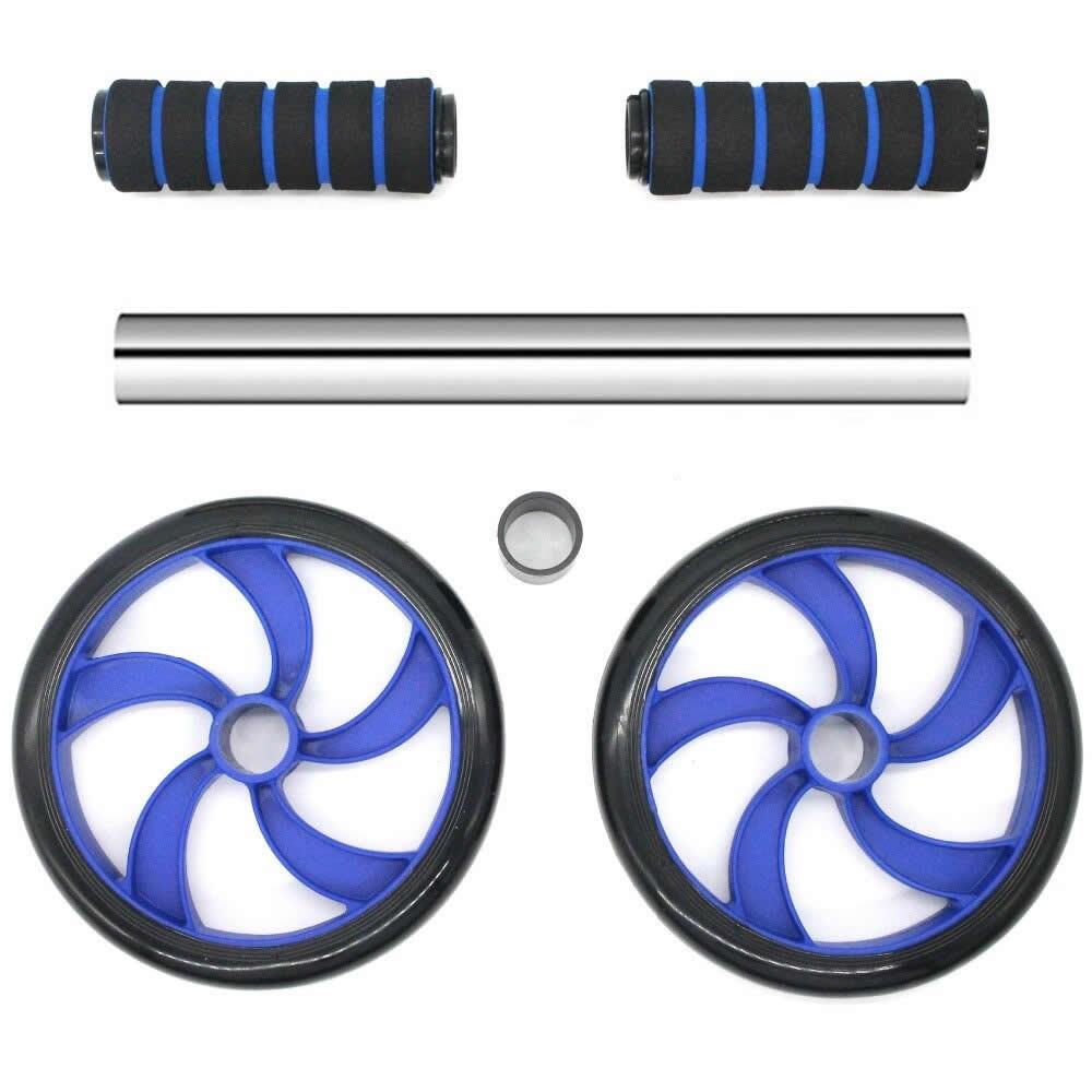Roda De Exercícios Abdominais Dupla Rodinha Abdominal Azul CBRN15481