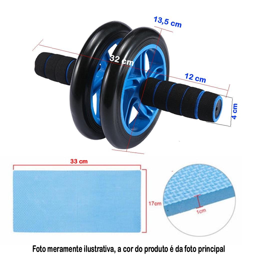 Roda De Exercícios Abdominais Dupla Rodinha Abdominal VERDE CBRN03716