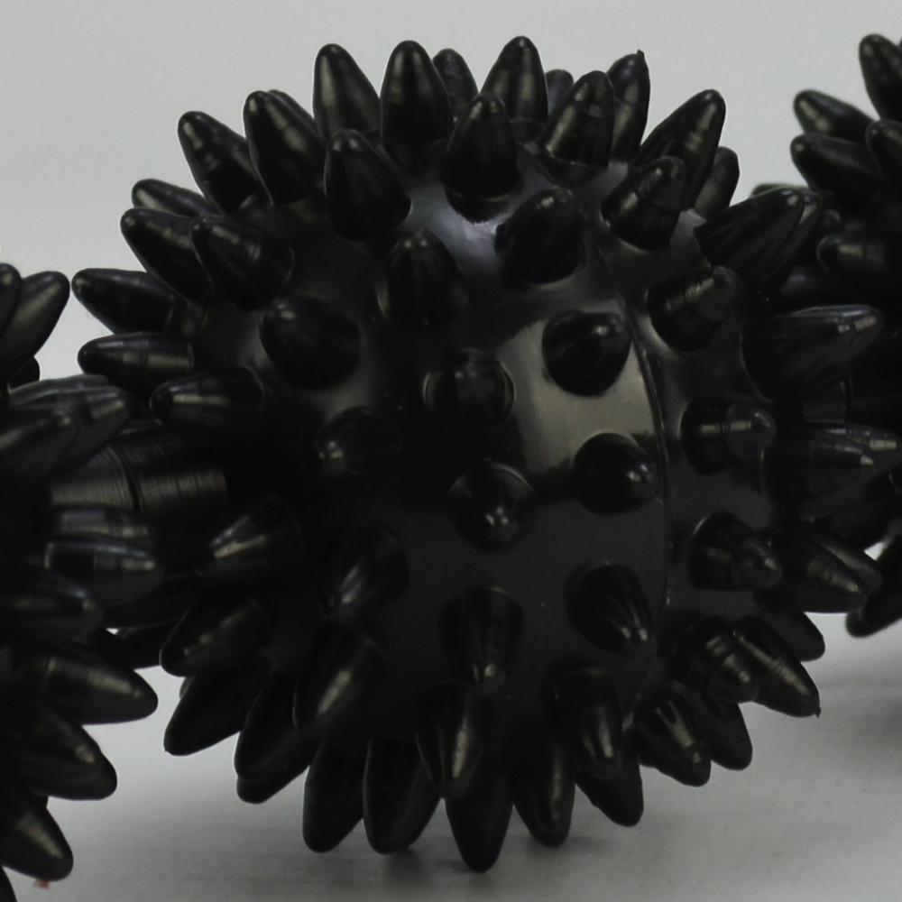 Rolo Bastão Massageador Miofascial 3 Bolas Preto + Suporte Celular CBRN15757