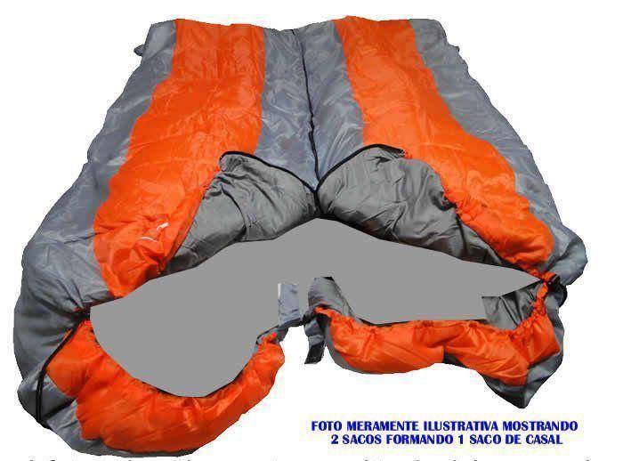 Saco de Dormir -5°C à +10ºC Poliéster Estilo Casal CBR01033 ZIPER DIREITO AZUL