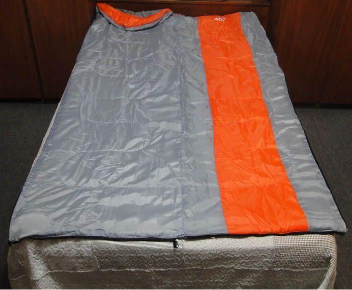 Saco de Dormir -5°C à +10ºC Poliéster Estilo Casal CBR01033 ZIPER DIREITO LARANJA