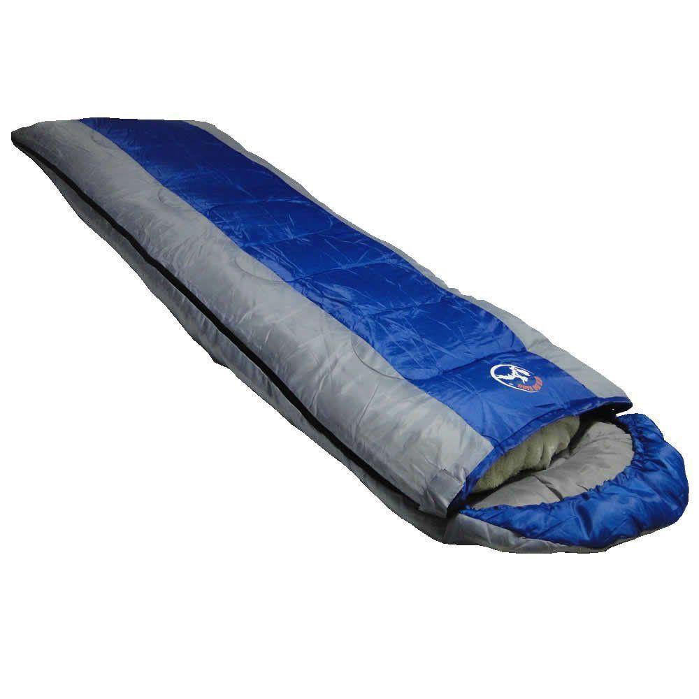Saco de Dormir -5°C à +10ºC Poliéster Estilo Casal CBR01033 ZIPER ESQUERDO AZUL