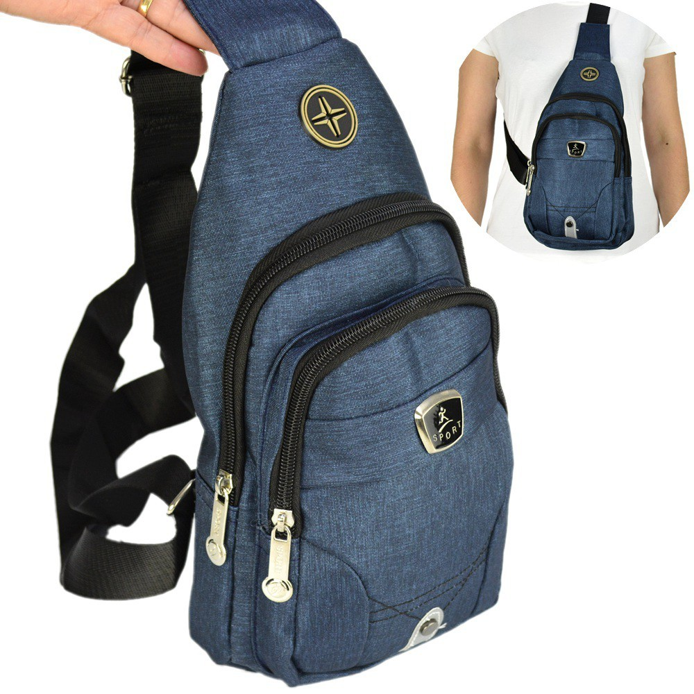 Shoulder Bag Mochila Transversal Bolsa Unisex Azul 01 CBRN12244