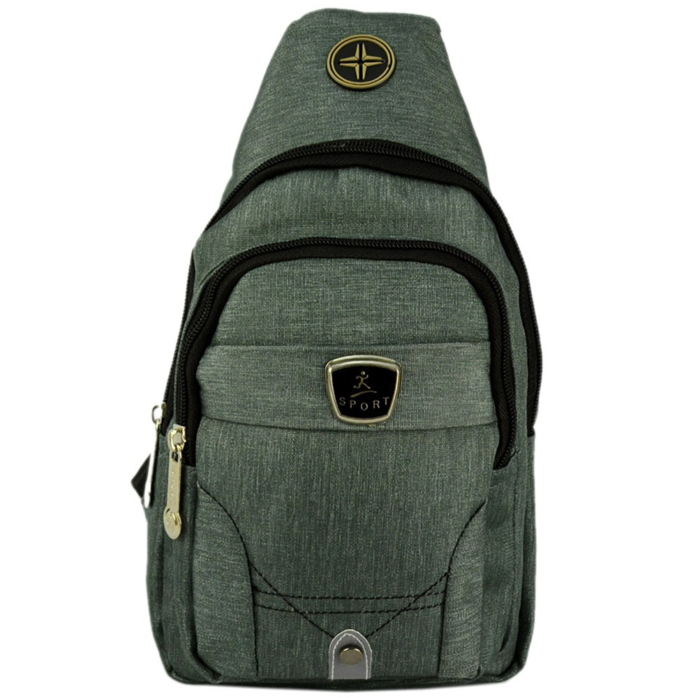 Shoulder Bag Mochila Transversal Bolsa Unisex Cinza 01 CBRN12275