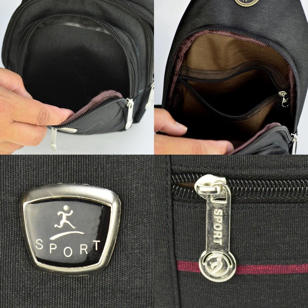 Shoulder Bag Mochila Transversal Bolsa Unisex Preto 03 CBRN12329