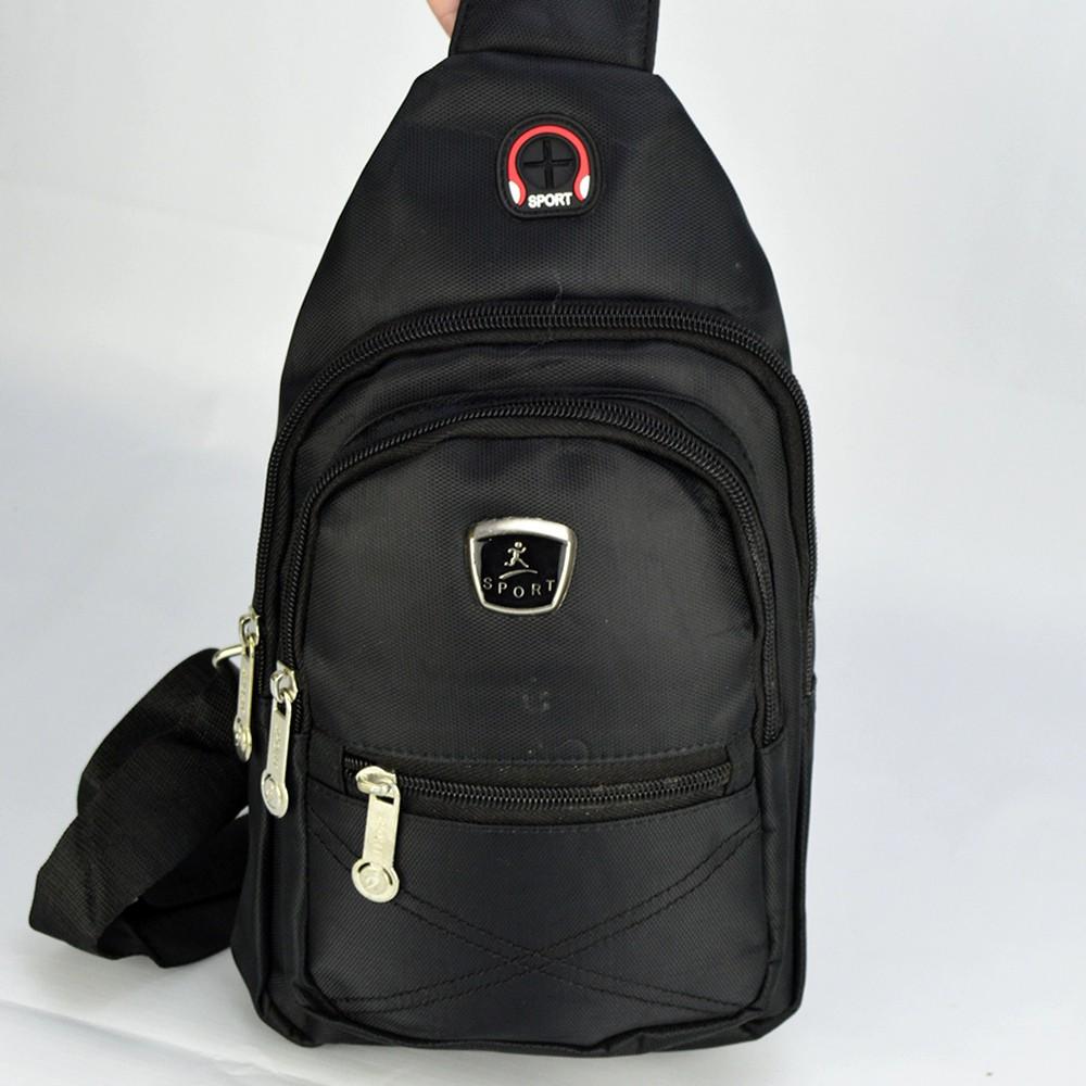 Shoulder Bag Mochila Transversal Bolsa Unisex Preto 04 CBRN12336