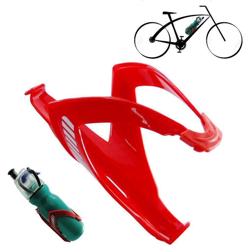 Suporte Bicicleta Squeeze Garrafa Caramanhola Bike Vermelho CBRN01750
