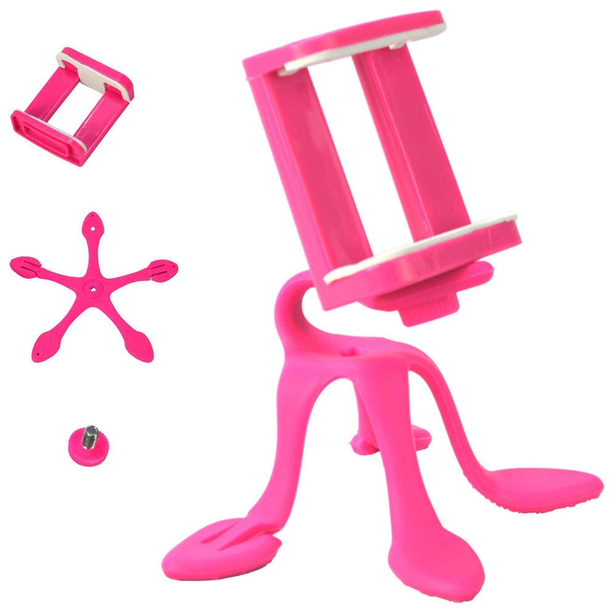 Suporte Para Celular Flexível Tripod Pink CBRN06380