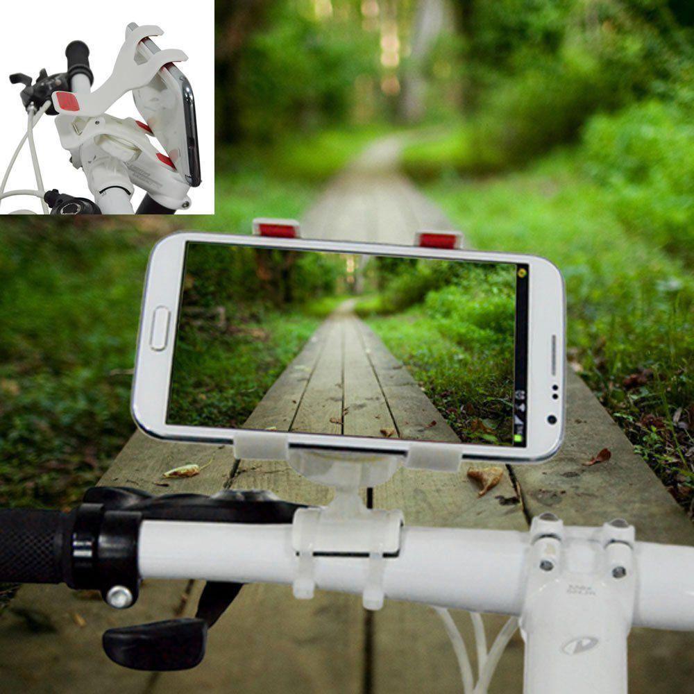 Suporte para bicicleta moto GPS Celular Branco CBRN0036