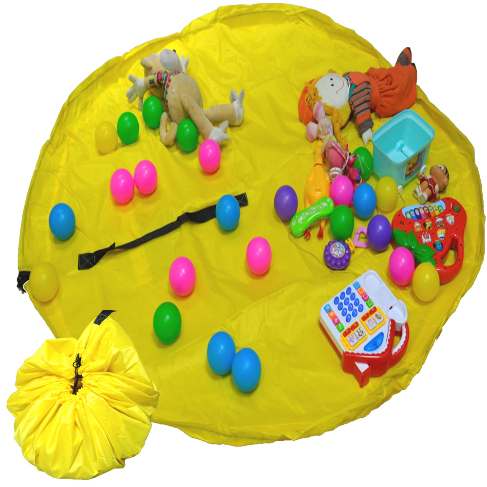 Tapete Sacola Saco Bolsa Organizador de Brinquedos Multiuso Amarelo CBRN13753