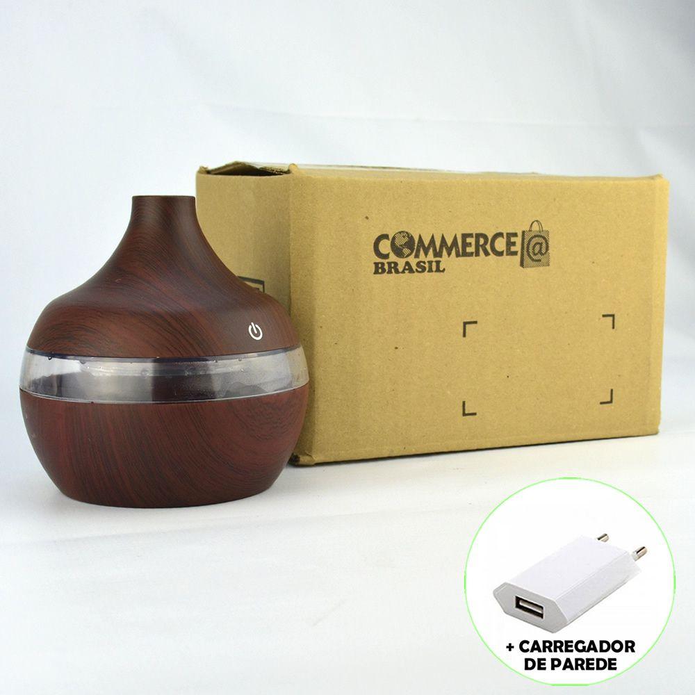Umidificador de Ar Ultrassônico Aromatizador Madeira Escuro CBRN11933