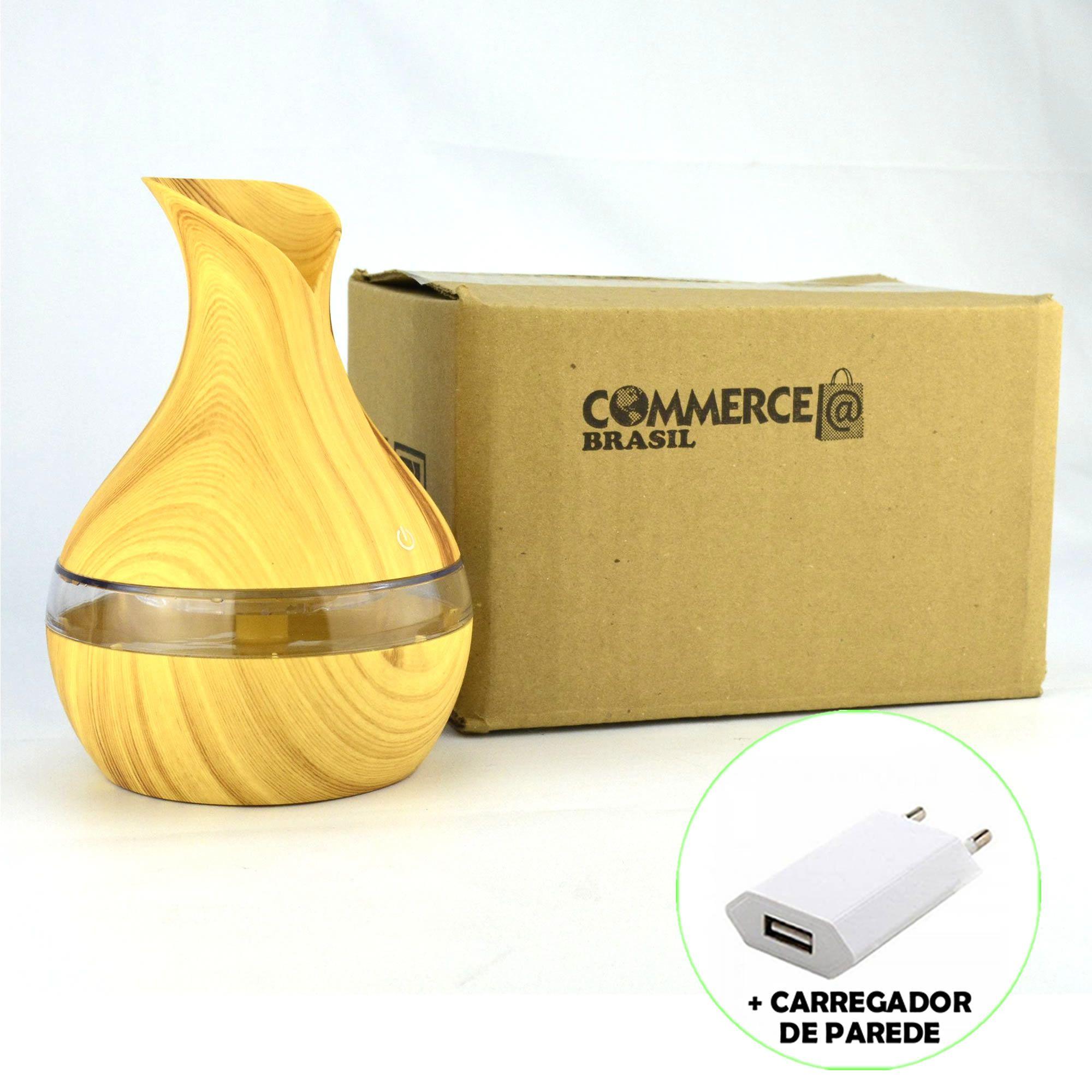 Umidificador de Ar Ultrassônico Aromatizador Vaso Claro CBRN11889