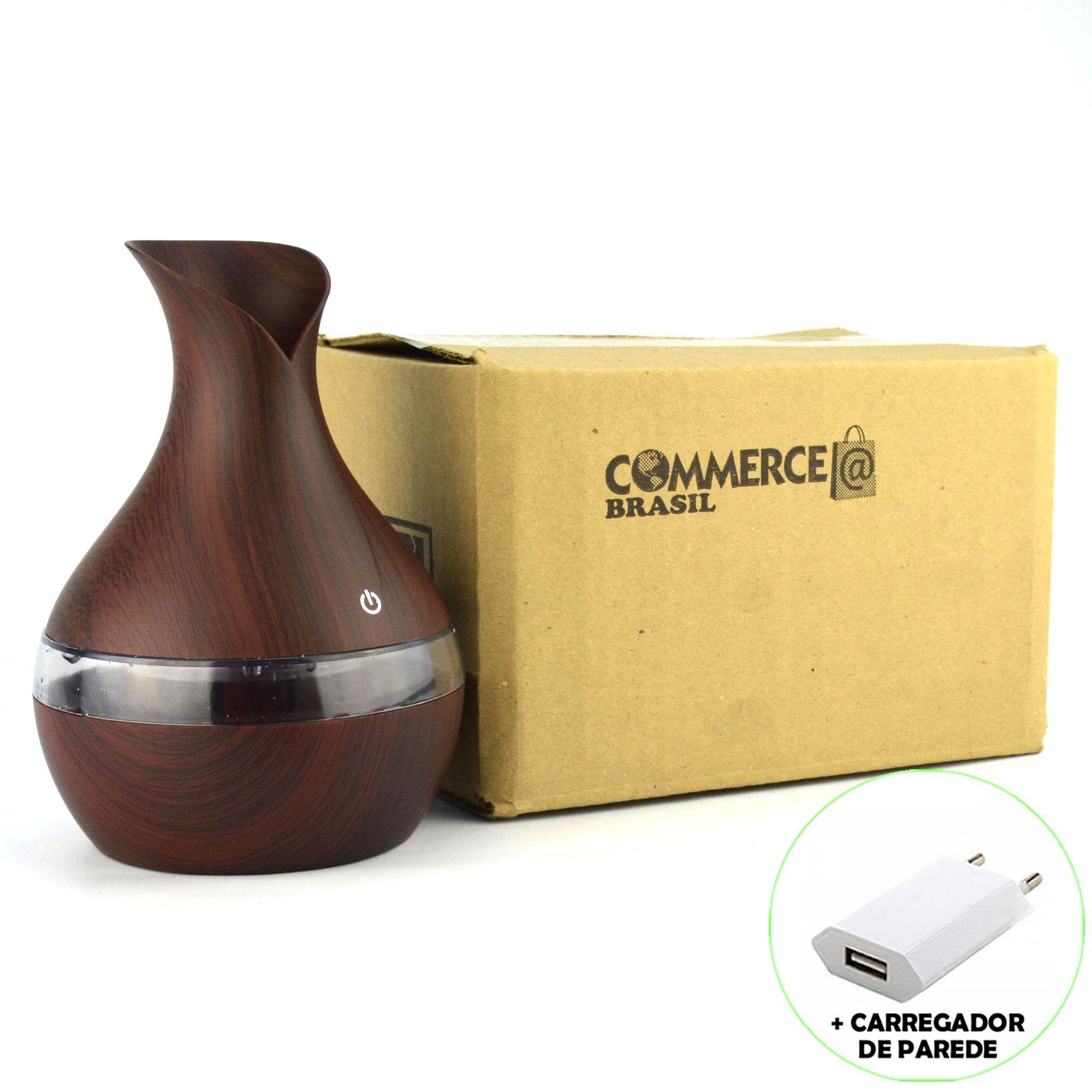 Umidificador de Ar Ultrassônico Aromatizador Vaso Escuro CBRN11896