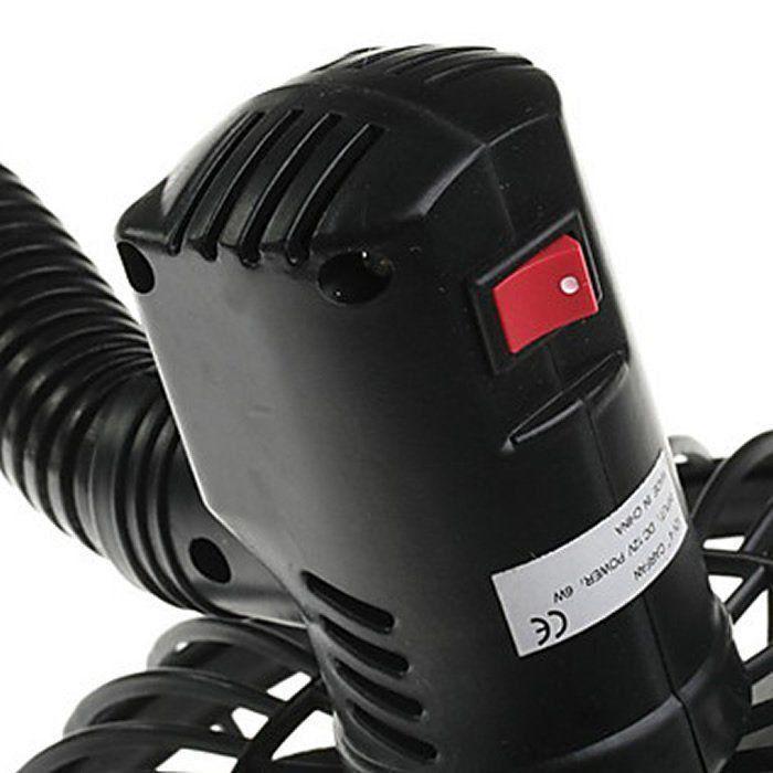 Ventilador Flexível 12v 10cm p/ Auto, caminhão, barco WMT2012