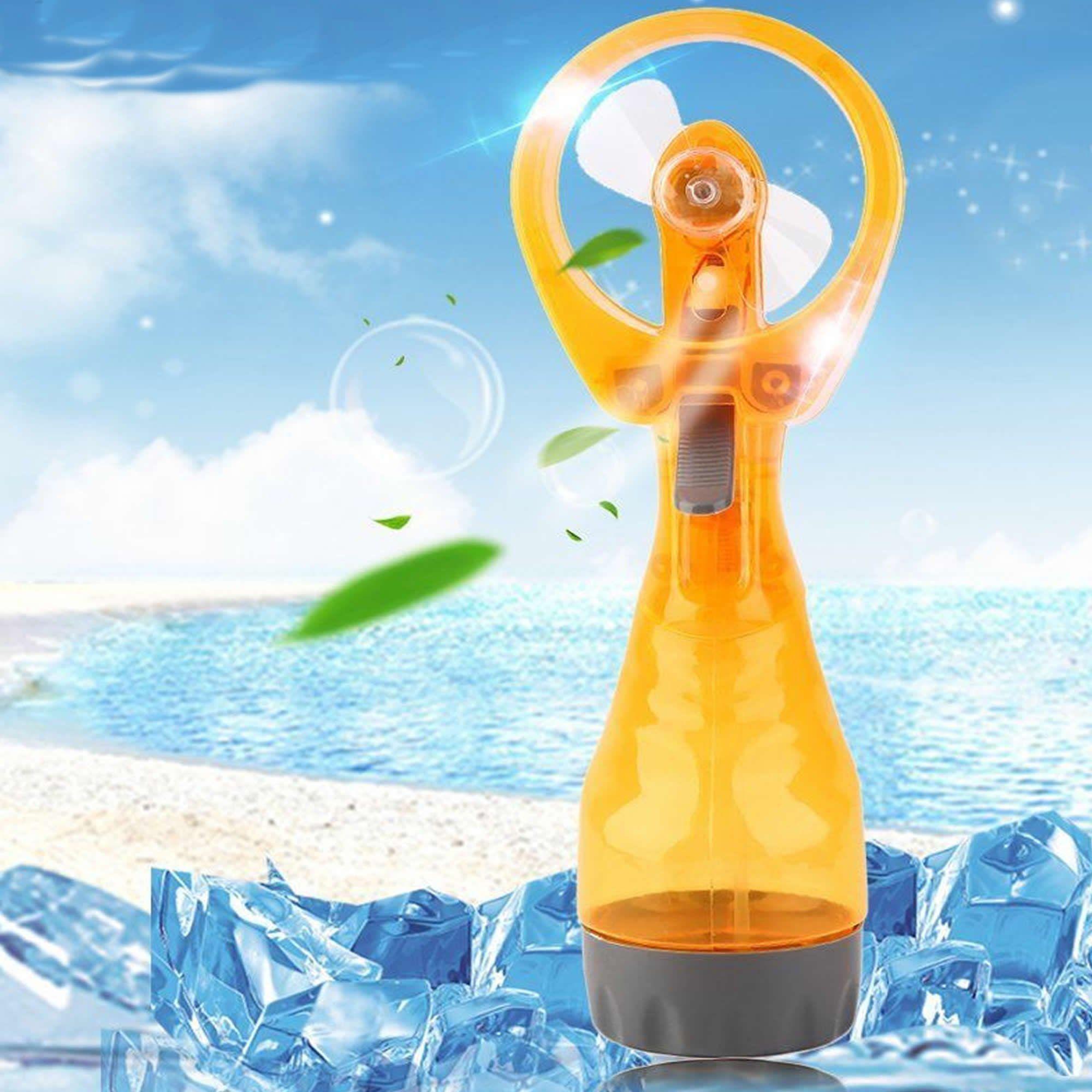 Ventilador Portátil Borrifador Umidificador Spray Amarelo CBRN05161