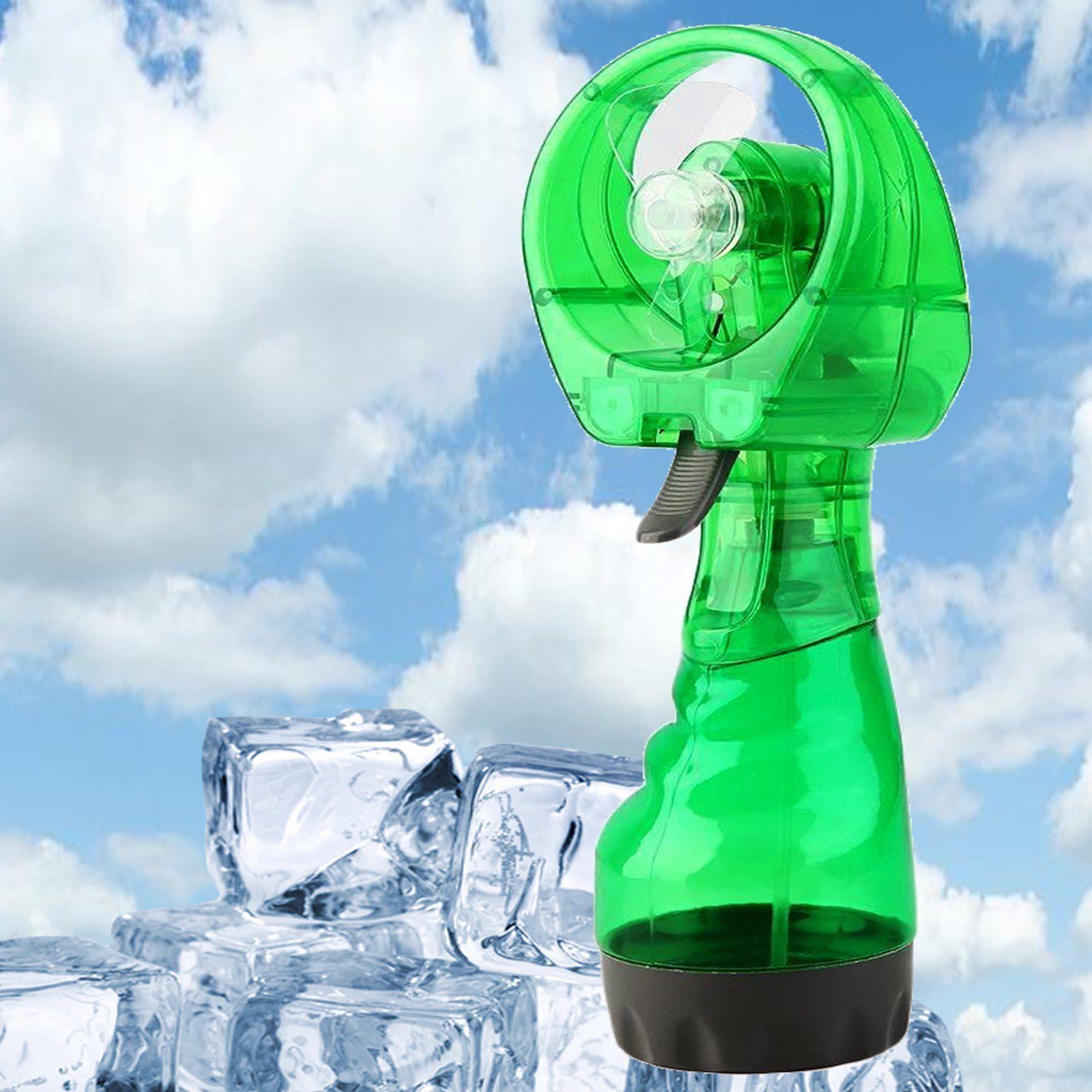 Ventilador Portátil Borrifador Umidificador Spray Verde CBRN05130