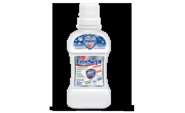 KIT 4   1 Enxaguante Bucal de 500ml + 1 Gel dental de 70g + 1 Sabonete líquido de 500ml + 1 Exanguante Bucal de 60ml + 1 Enxaguante Bucal Spray de 30ml  - Freesept Prevent