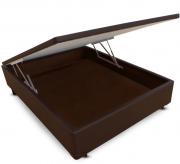 CAMA BOX BAÚ - CASAL - MARROM CORANO - 138X188