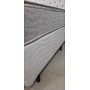 CAMA BOX - CASAL - BEGE MAROLA - 138X188