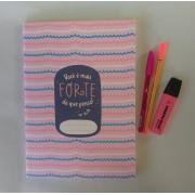 Caderno Flex Você é Mais Forte Do Que Pensa - Miolo Pontilhado - 20,5cm x 28cm