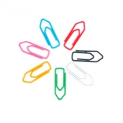 80 Clips para Papel Revestido de Vinil I Clips de papel Coloridos I Prendedor Papel