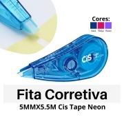 Fita Corretiva Tape Neon - 5mm - Cis