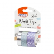 Washi Tape Fita Adesiva Decorativa Shine BRW Kit com 3 Unidades