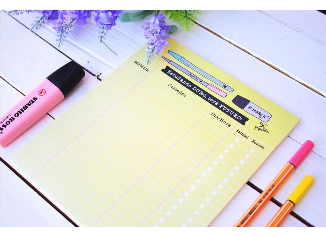 Bloco Planner A5 Estudante C/40 folhas - 15 x 21cm