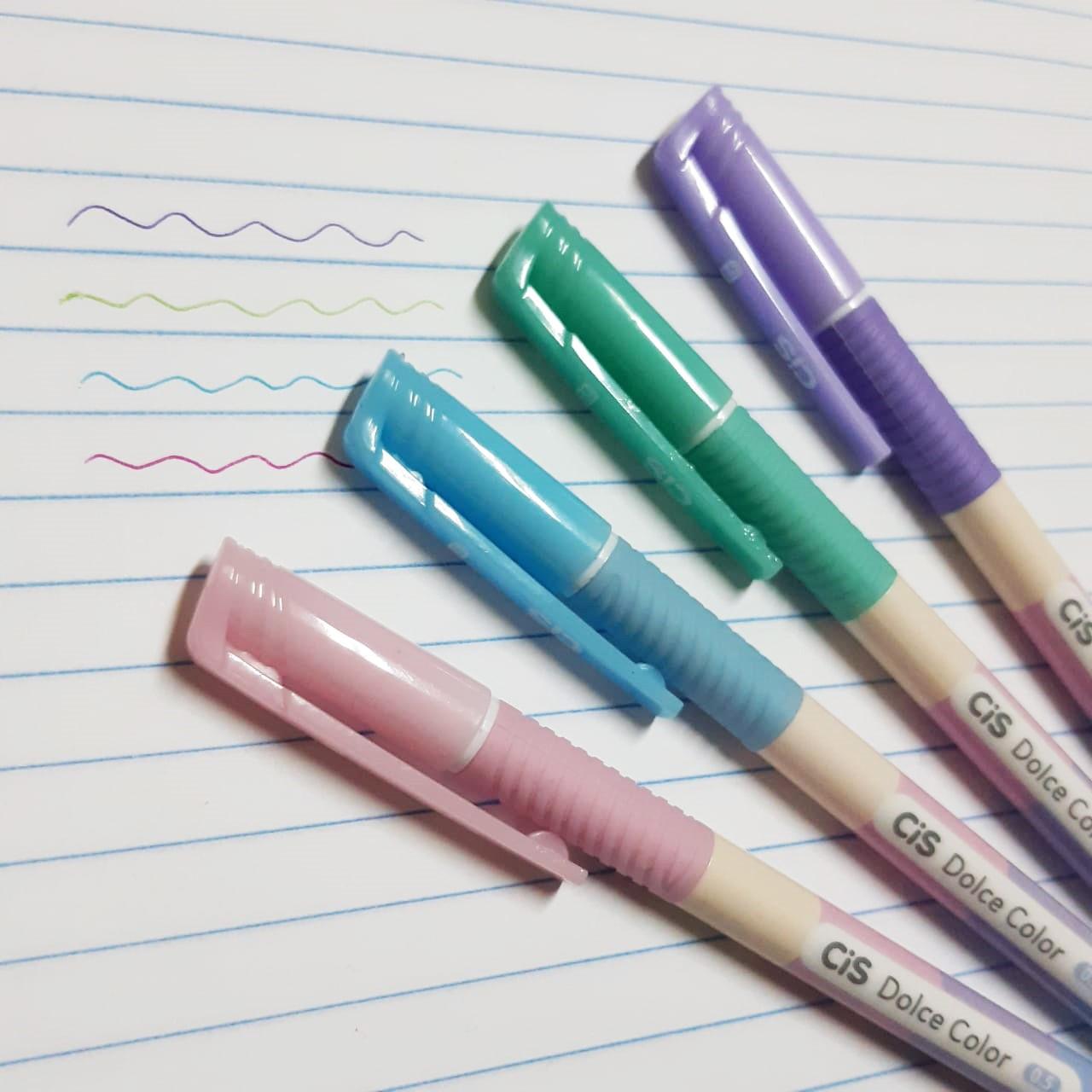 Caneta Esferográfica Dulce Color 0,5mm - Ponta Fina - Cis