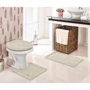 Jogo De Banheiro Delicato 3 pçs - Perfil Baixo - Espessura 0,8cm