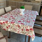 Toalha de Mesa Impermeável Retangular 06 Cadeiras