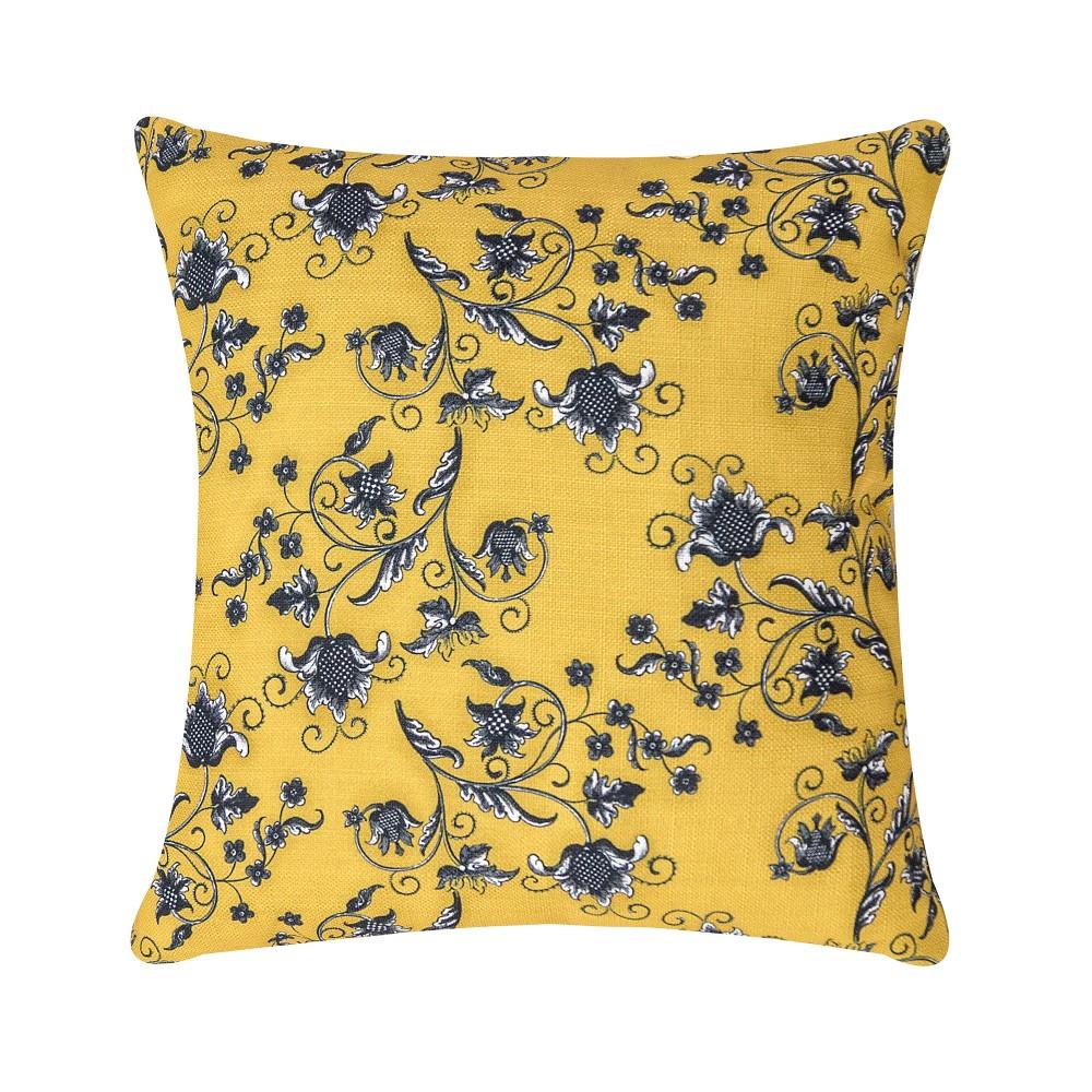 Capa de Almofada Fascínio 45cmx45cm 1 Peça - Amarelo Floral