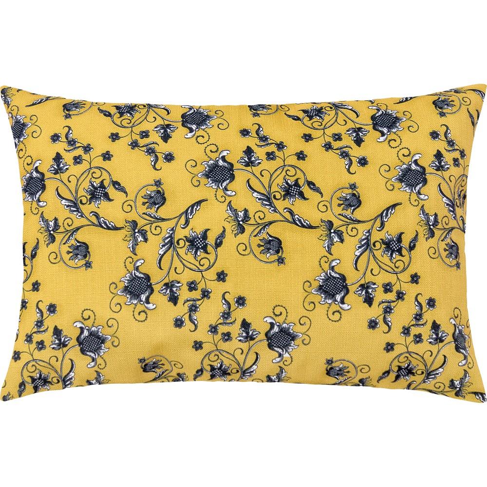 Capa de Almofada Fascínio 55cmx33cm 1 Peça - Amarelo Floral