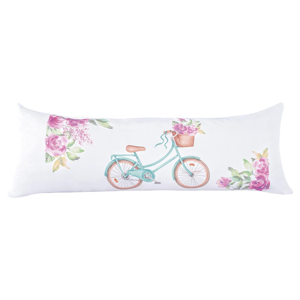 Capa de Travesseiro Fofuxão Estampada Avulso - Bicicleta