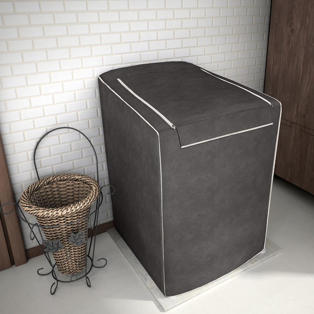 Capa para Máquina de Lavar 100% P.V.C Grande 12 a 16kg - Café