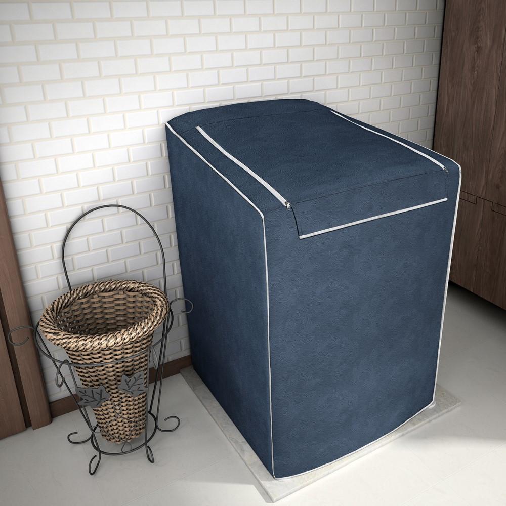 Capa para Máquina de Lavar 100% P.V.C Grande 12 a 16kg - Azul Cobalto