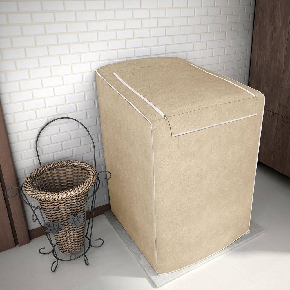 Capa para Máquina de Lavar 100% P.V.C Grande 12 a 16kg - Bege