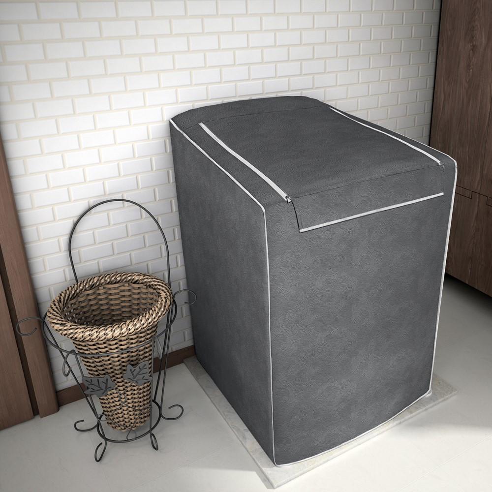 Capa para Máquina de Lavar 100% P.V.C Grande 12 a 16kg - Chumbo